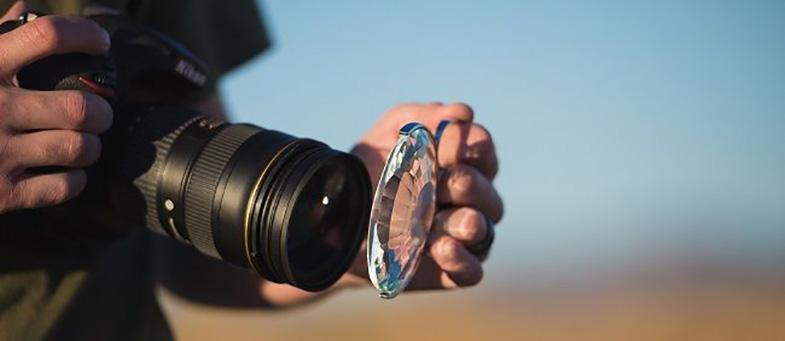slr camera light prism