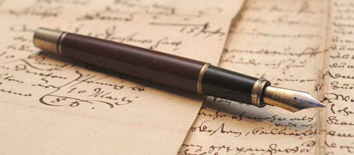 fountain pen on calligraphy handwriting