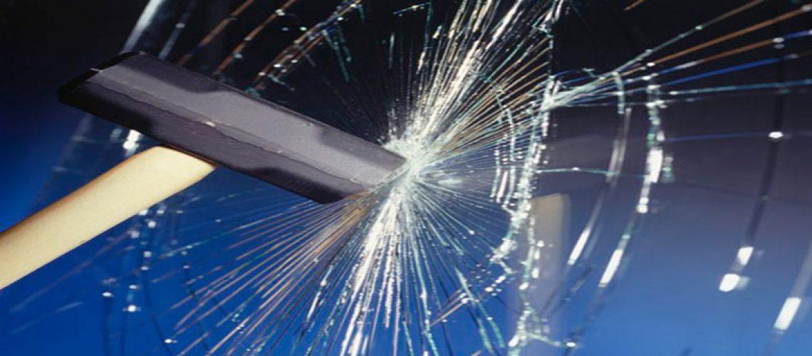 sledgehammer breaking glass